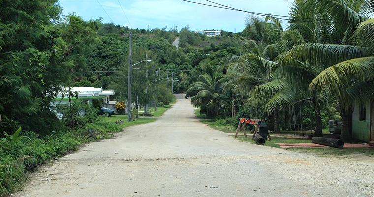 Типичная улица Остров, Микронезия