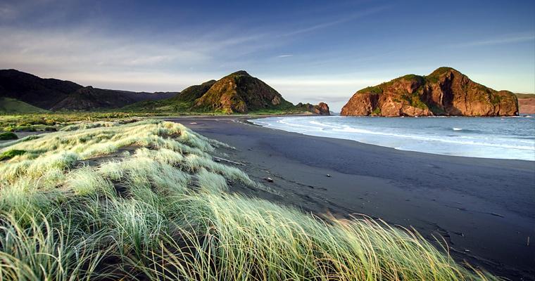 Пляж Окленд в Новой Зеландии