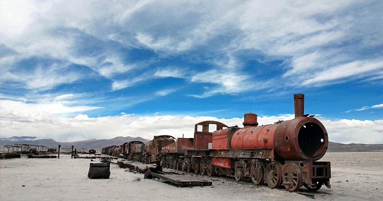Заброшенный поезд, Уюни, Боливия