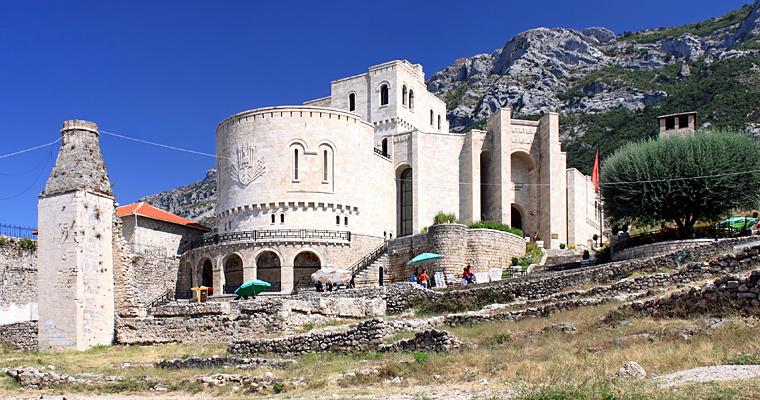 Замок и музей Скандербега в Kruji, Албания