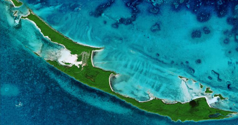 Спутниковое изображение, Багамы