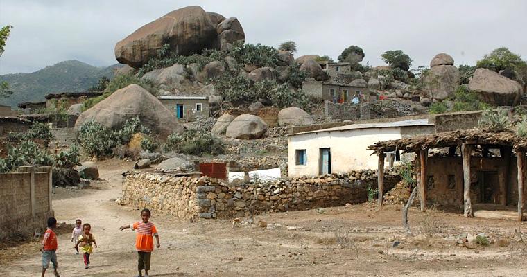 Деревня Akrur, Эритрея