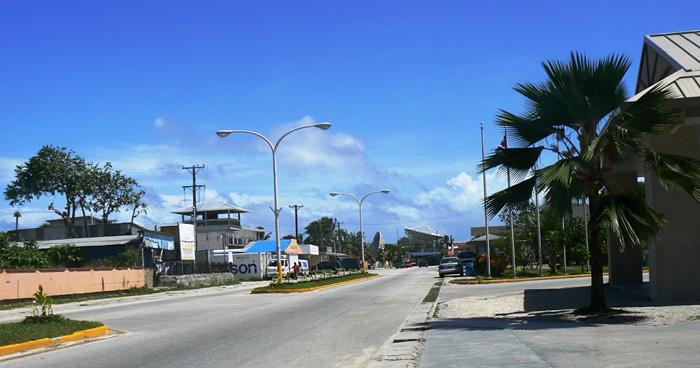 Главная улица в Маджуро Атолл