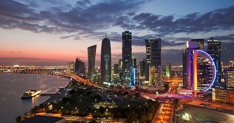 Доха ночью, Катар