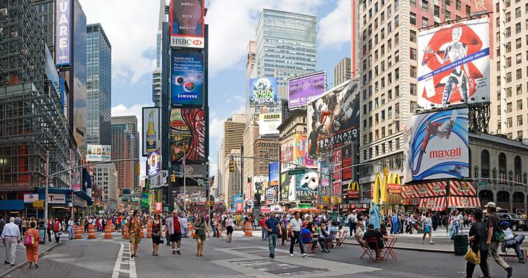 Times square, Нью-Йорк, Америка