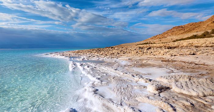 Вид на береговой линии Мертвого моря
