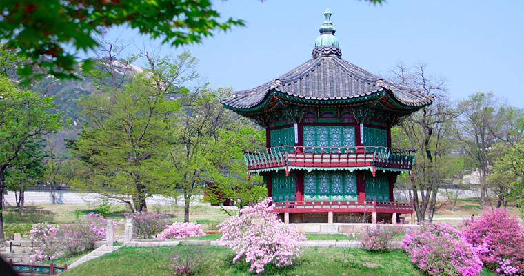 Дворец Kyoungbok в Сеуле, Южная Корея