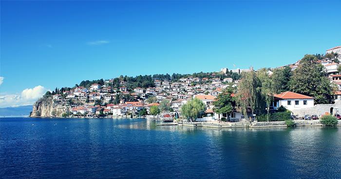 Город на Охридском озере в Македонии