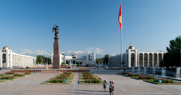 Площади Ала-Тоо, главная площадь Бишкека, Киргизия