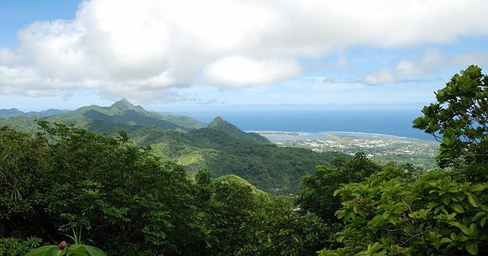 Вид на аэропорт из Olotele, Самоа