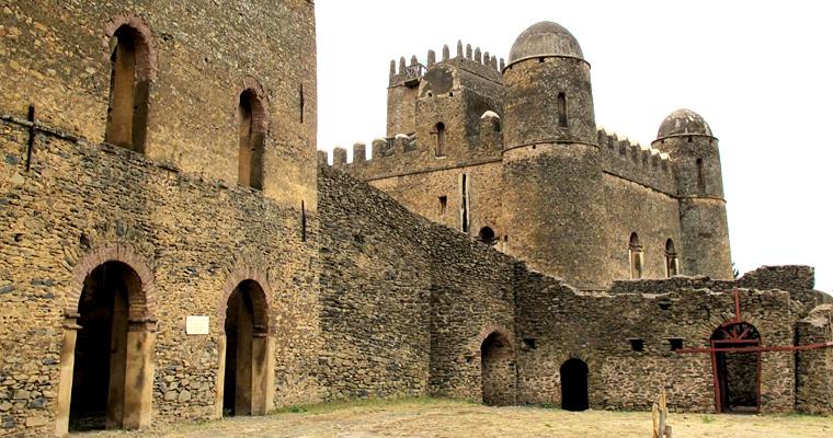 Замок 17-го века в Гондаре, Эфиопия
