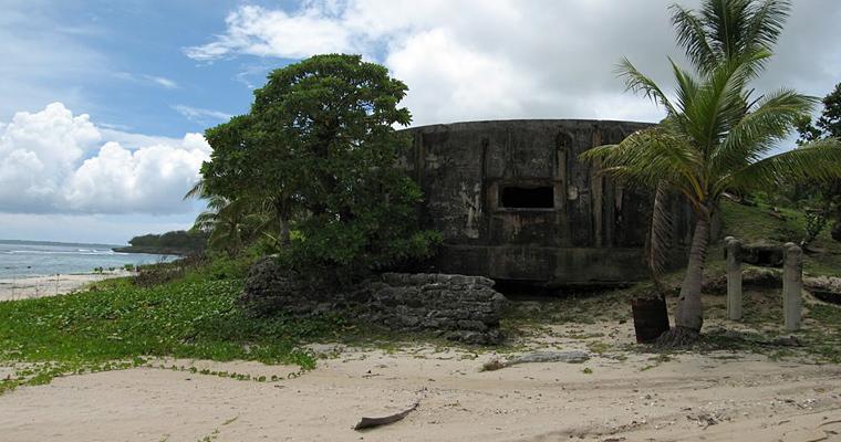Многочисленные бункеры на острове Гуам