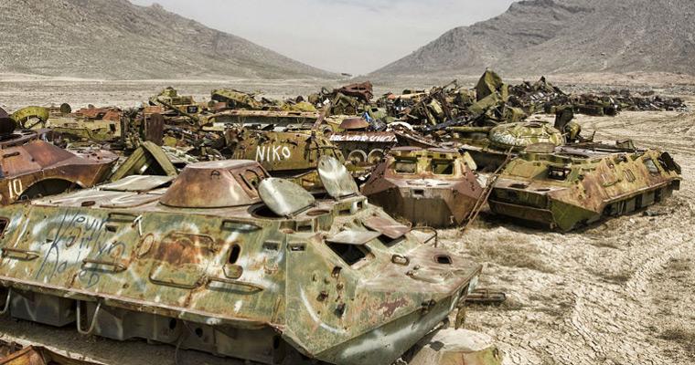 Кладбище советской военной техники под Кабулом.