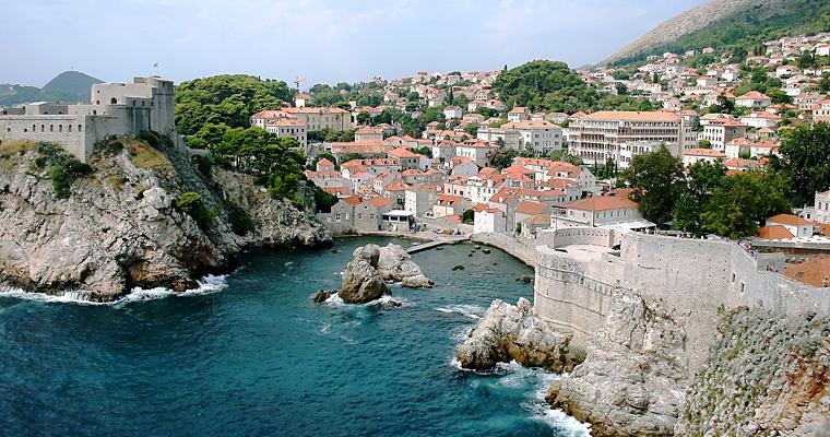 Дубровник, центр самой южной области Далмации, Хорватия
