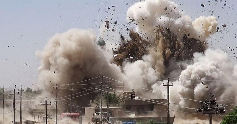 Мечеть шиитов Al-Qubba Husseiniya взорвана в Мосуле, Ирак