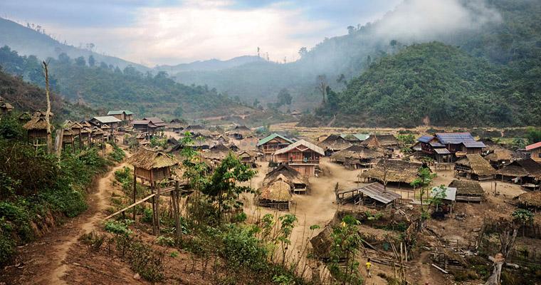 Лаосская деревня