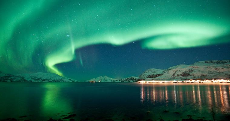 Северное сияние, Норвегии