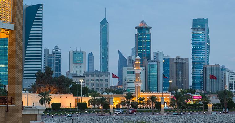 Вечер, город Кувейт