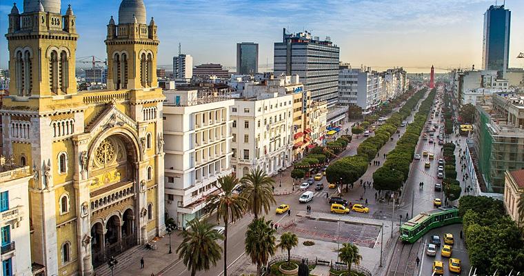 Проспект Habib Bourguiba, Тунис