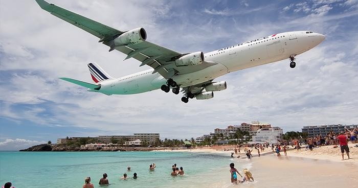 Самолет заходит на посадку, Сен-Мартен