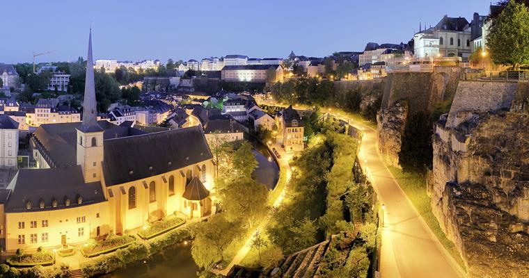 Вечерний старый город, Люксембург