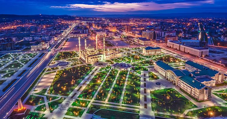 Ночной Грозный, Россия