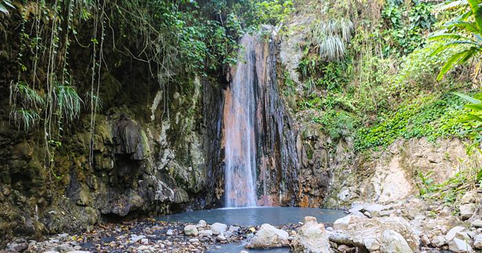 Алмазный водопад, Сент-Люсия