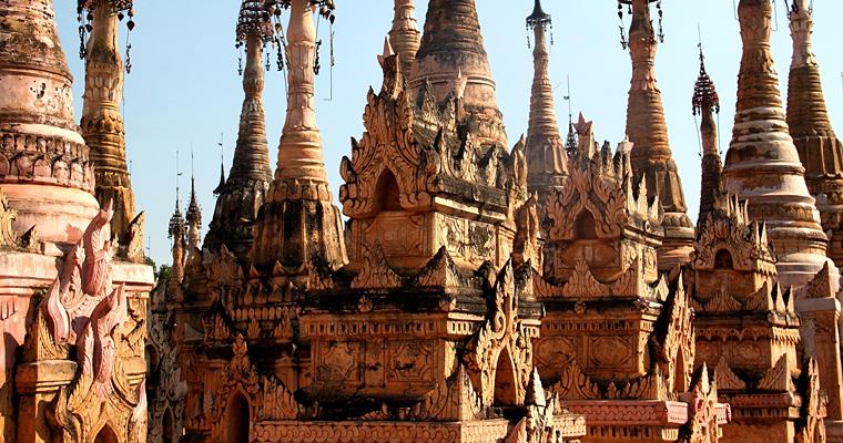 Лес ступ, Бирма