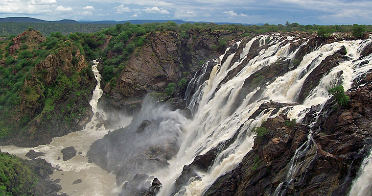 Водопад Руакана, Намибия и Ангола
