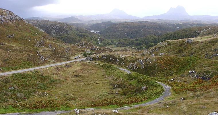 Дорога к Lochinver, Великобритания