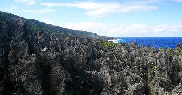 Карст пейзаж в Huvalu, Ниуэ
