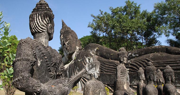 Парк Xieng Khuan (Buddha Park). Xieng Khuan означает Дух города.
