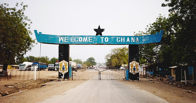 Граница, Гана