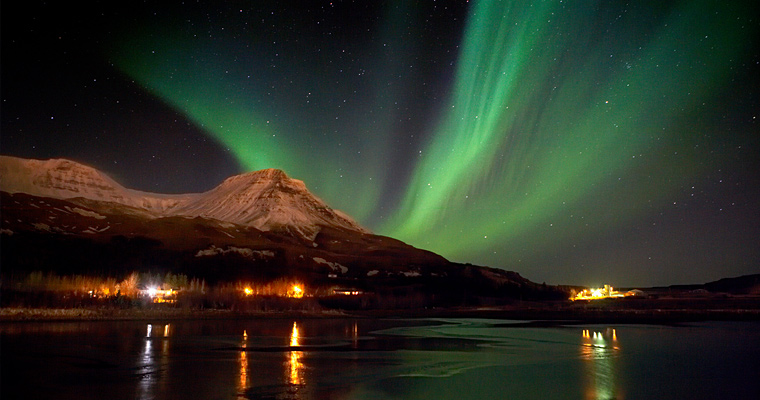 Северное сияние, Исландия