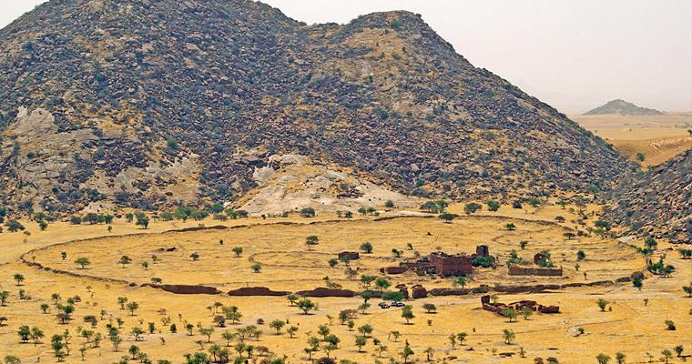 Руины Ouara, Чад