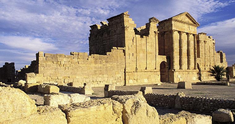 Римские руины Минерва Юпитер и Юнона, Тунис