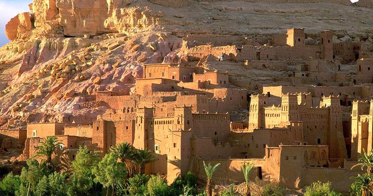 Крепость  Ait Benhaddou, Марокко