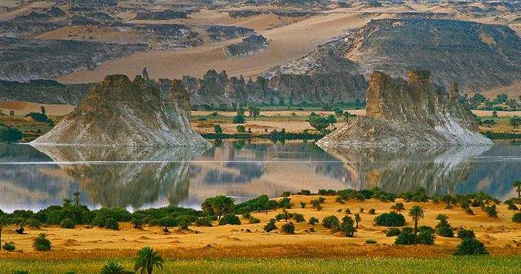 Озеро Ounianga Serir, Чад