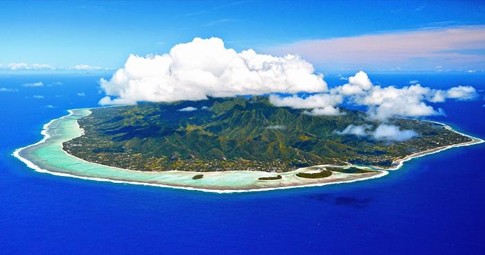 Острова Кука с высоты птичьего полета