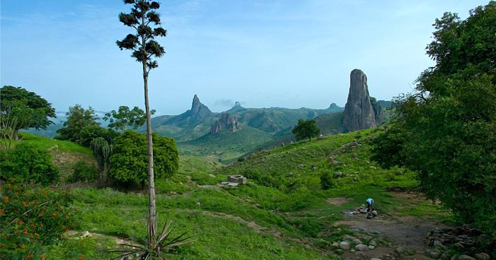 Пейзаж у пика Rhumsiki, Камерун