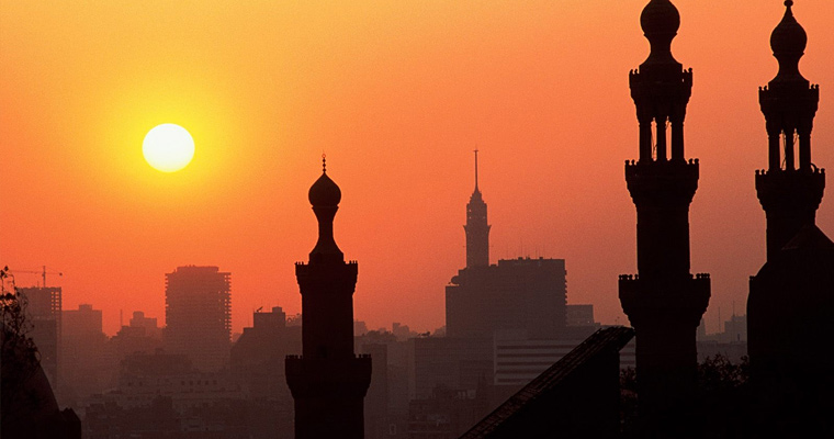 Закат, Каир, Египет