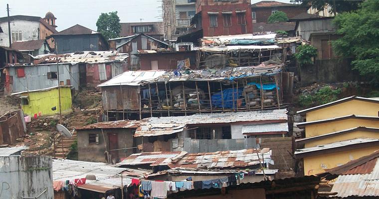 Трущобы Фритаун, Сьерра-Леоне