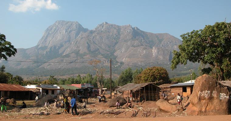 Пейзаж с видом на горы, Малави