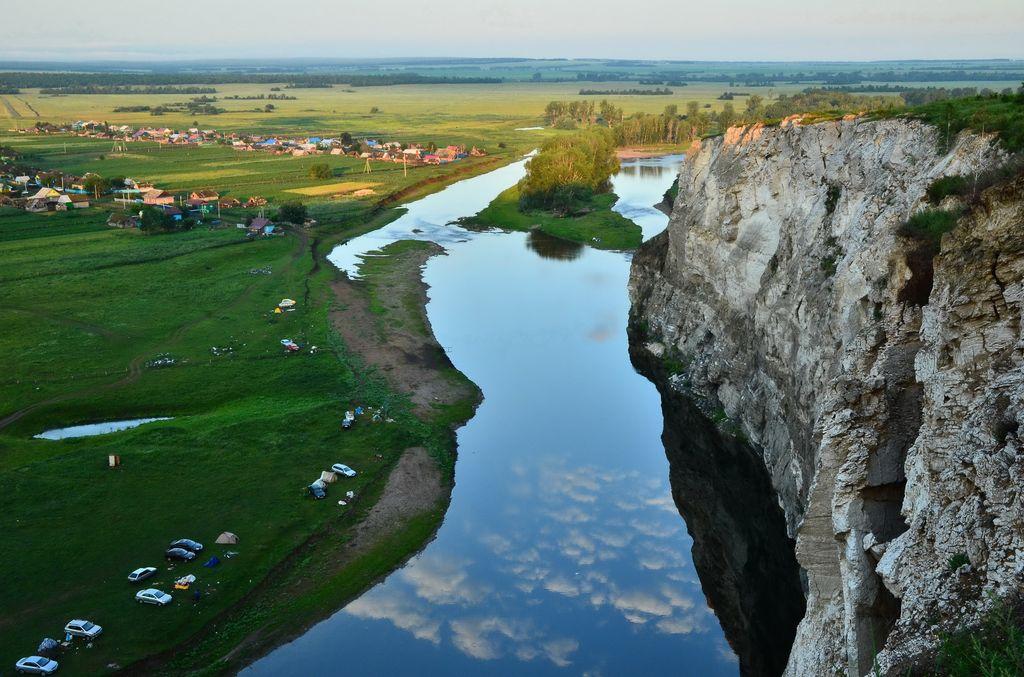 У скалы Акташ на реке Зилим