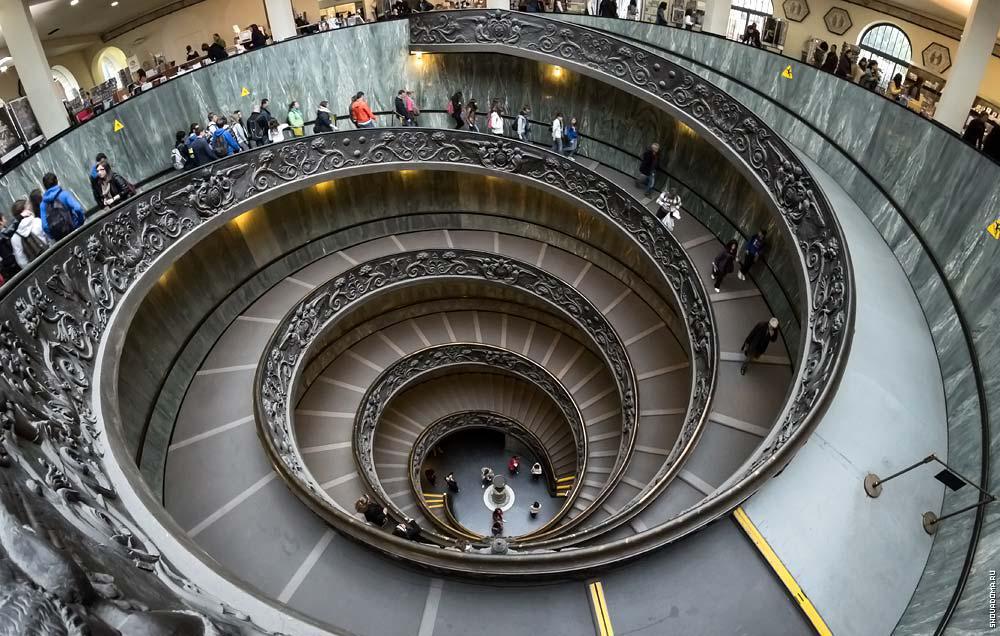 Спиральная лестница, разработанная Джузеппе Момо в 1932 году