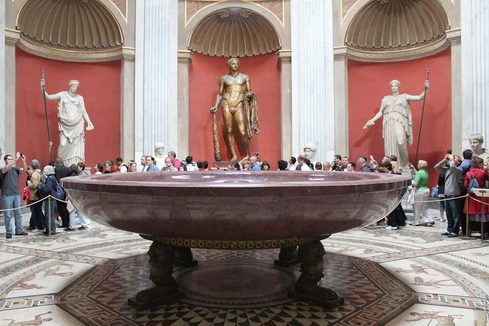 Ванна Нерона, музей Ватикана