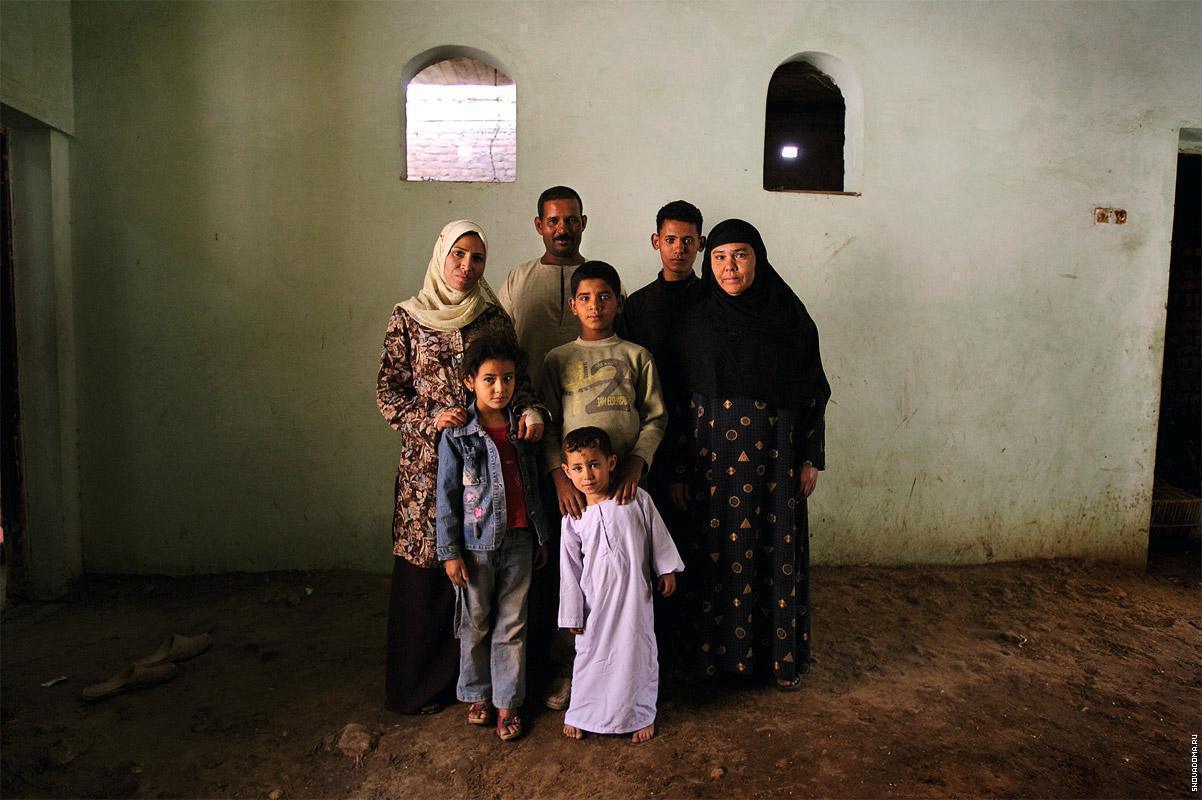 Семья египтян