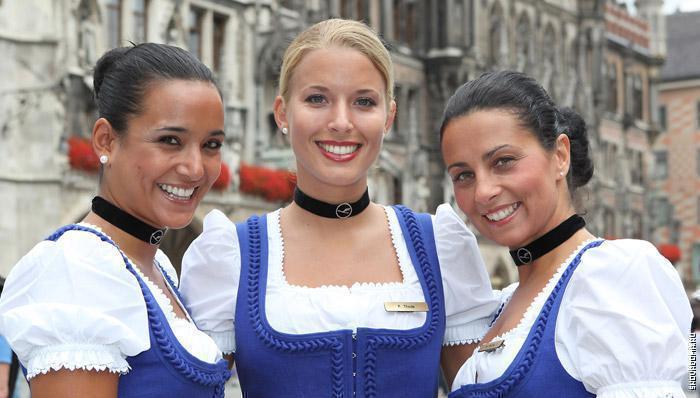 Национальные костюмы Германок на октоберфесте