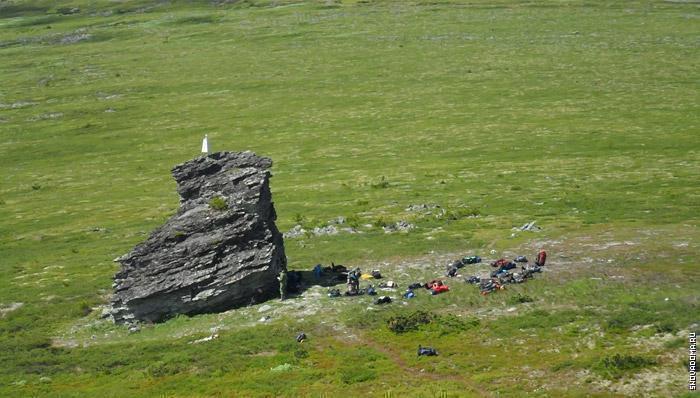 Перевал и место стоянки группы